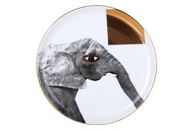 Porland Wild Life Elephant Düz Tabak 20Cm Renkli
